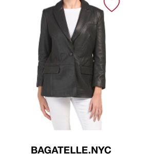 NWT Bagatelle Leather Blazer for Woman